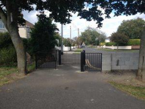 fenced-entranceway